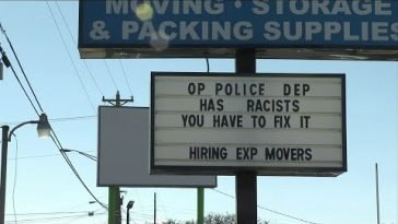 This sign was turning heads in Orange Park. We found out why it was posted.